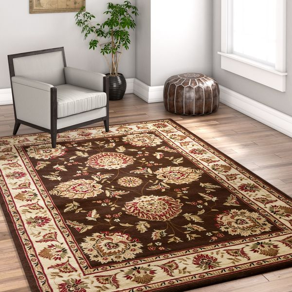 Well Woven Traditional Oriental Brown Area Rug - 9'3 x 12'6