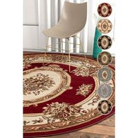 Well Woven Traditional Medallion Round Rug - 5'3