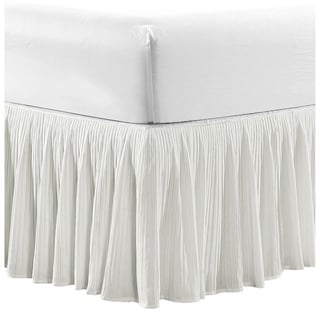 Serenta Tivoli Ikat and Melody Pleated Matching 18-inch Drop Bed Skirt