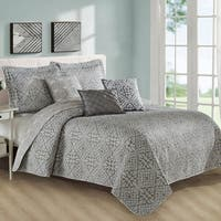 Serenta 6 Piece Bellamy Printed Microfiber Coverlet Set