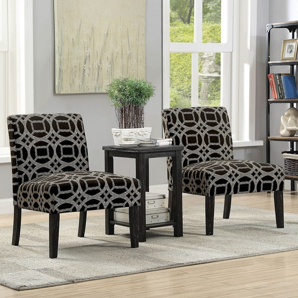 Shop Furniture Of America Loo Modern Black 3 Piece Table