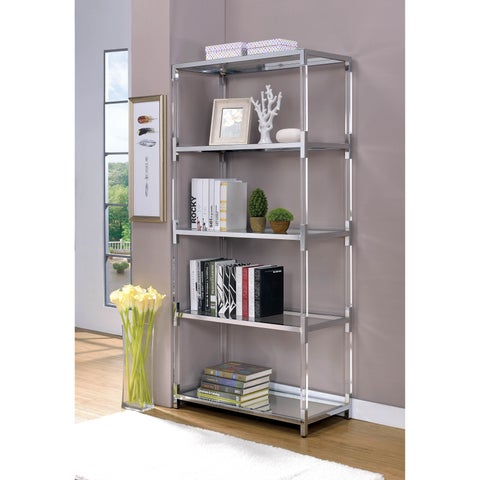 Furniture of America Thalberg Contemporary Faux Lucite 5-tier Bookshelf