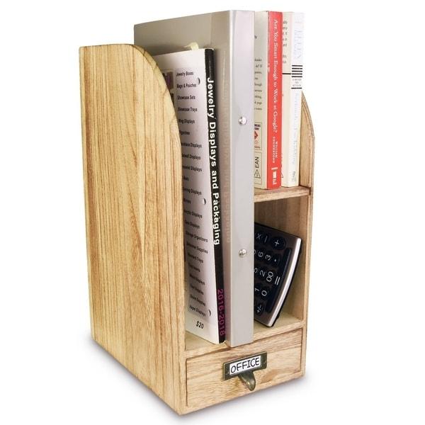 Ikee Design Oak Color Adjustable Wooden Desk Organizer For Desktop  Accessories  amp  Office Supplies 00899ac4532d