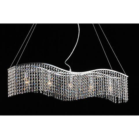 Silver Orchid Brooks Crystal 5-light Chandelier