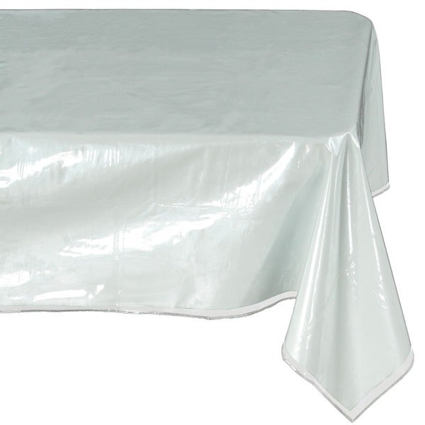 225 & Shop Ottomanson Heavy Duty Clear Plastic Tablecloth Clear ...