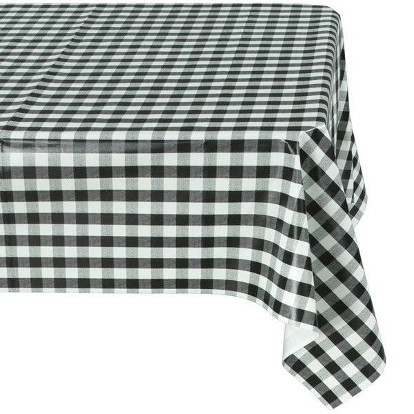 Ottomanson Vinyl Tablecloth Checkered Design Indoor U0026amp; Outdoor Non Woven  Backing Tablecloth