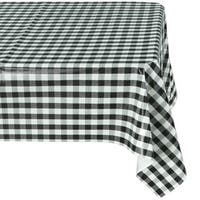Ottomanson Vinyl Tablecloth Checkered Design Indoor & Outdoor Non-Woven Backing Tablecloth