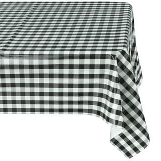 Ottomanson Vinyl Tablecloth Checkered Design Indoor U0026 Outdoor Non Woven  Backing Tablecloth