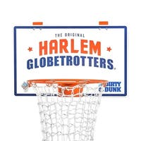 The Dirty Dunk (2nd Generation) Harlem Globetrotters Edition - The Original Over-the-Door Basketball Hoop Laundry Hamper