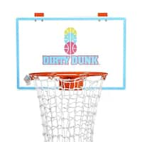 The Dirty Dunk (2nd Generation) Neon - The Original Over-the-Door Basketball Hoop Laundry Hamper