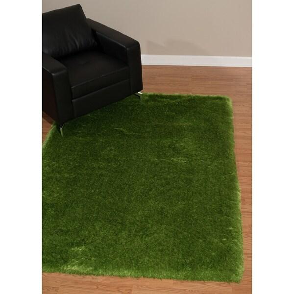 Shop Westfield Home Verona Cirrus Green Shag Accent Rug