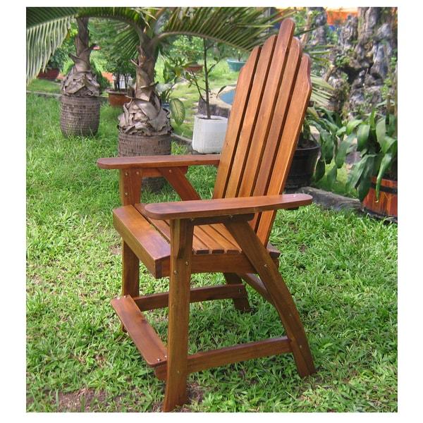 international caravan highland adirondack bar chairs (set of 2