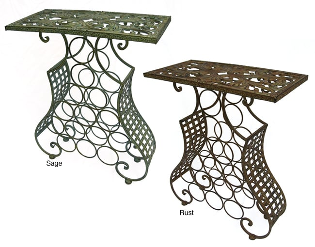 Iron Rectangular Table/Wine Holder