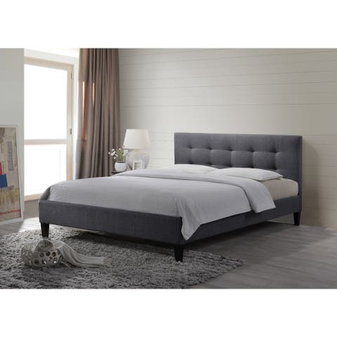 LuXeo Hermosa Tufted Upholstered Platform Contemporary Bed