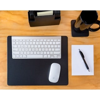 Black Leatherette 14 x 11.5 Conference Table Pad