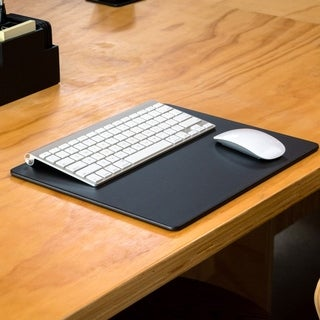Black Leather 14 x 11.5 Conference Table Pad