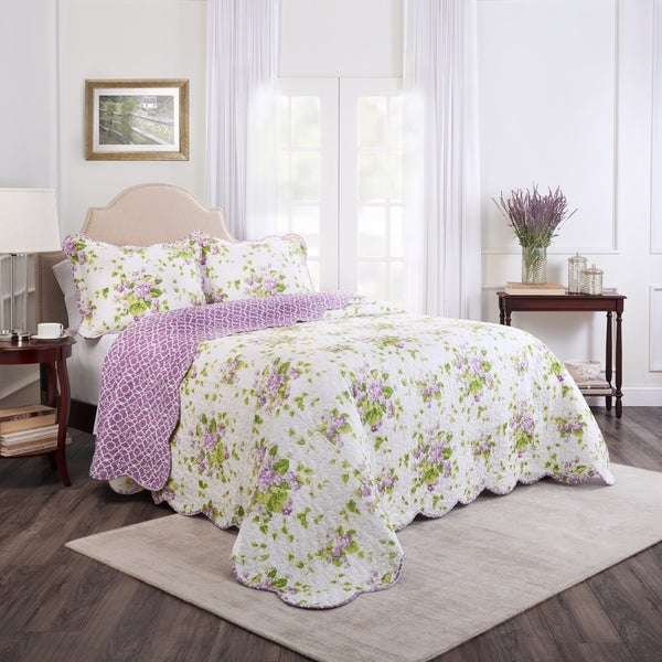 Waverly Sweet Violets Bedspread Collection