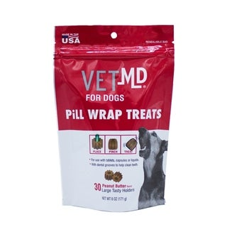 2-Pack VetMD Pill Hider Treats For Dogs in Peanut Butter Flavor - Large