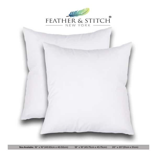 Set Of 2 Decorative Pillow Inserts Square Pillow Sofa And Bed Pillow Inserts Throw Pillow Insert White On Sale Overstock 20245774