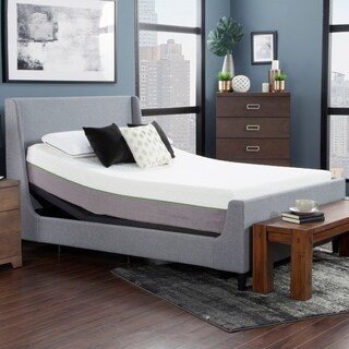 """Blissful Nights 12"""" Copper Infused Queen Memory Foam Mattress and Adjustable Base"""