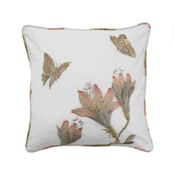 Waverly Laurel Springs Opal Embroidered Pillow