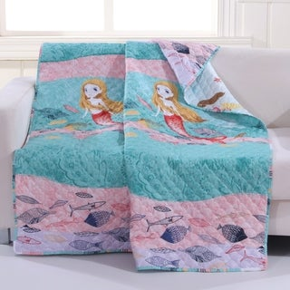 Mermaid Undersea Quilted Throw