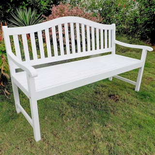 White Wooden Garden Furniture White wood patio furniture outdoor seating dining for less international caravan royal fiji 5 foot garden bench option antique white country workwithnaturefo