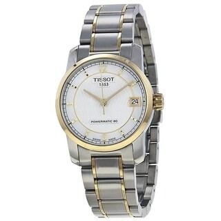 Tissot T-Classic Automatic Two-tone Titanium Ladies Watch