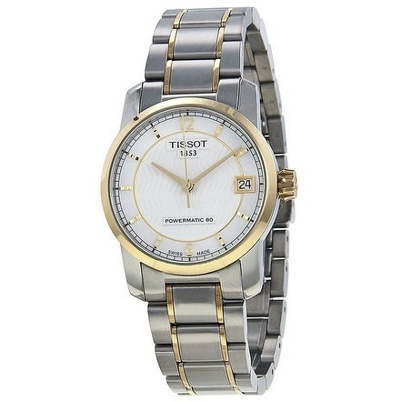 6d3e7e322 Shop Tissot T-Classic Automatic Two-tone Titanium Ladies Watch  T0872075511700 - Free Shipping Today - Overstock - 20246385