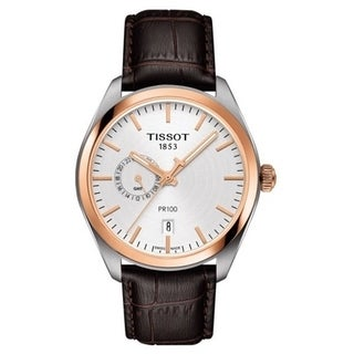 Tissot PR 100 Dual Time Leather Mens Watch T1014522603100