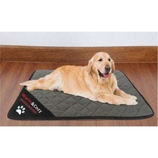 Quilted Non-Slip Self Heating Pet Mat