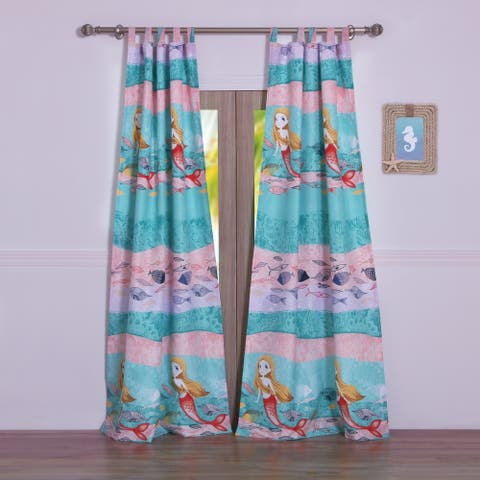 Mermaid Curtain Panel Pair