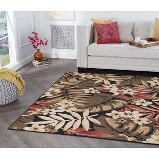 Alise Rugs Hamilton Transitional Floral Area Rug - 3'11 x 5'3