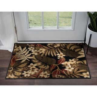 Alise Rugs Hamilton Transitional Floral Scatter Mat Rug - 2' x 3'