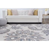 Alise Rugs Hamilton Transitional Floral Area Rug - 7'10 x 9'10