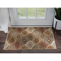 Alise Rugs Hamilton Contemporary Geometric Scatter Mat Rug - 2' x 3'