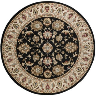 Alise Hamilton Black/Ivory/Red Oriental Rug (7'10 Round) (3 options available)