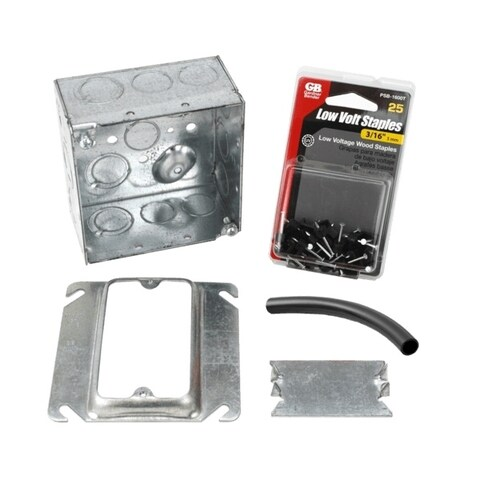 WarmlyYours Electrical Rough-in Kit Double Gang Box without Conduit