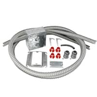 WarmlyYours Electrical Rough-in Kit Double Gang Box with 2 Conduits