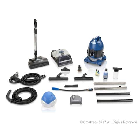 2019 Ocean Blue Water Filtration Bagless Canister Vacuum Cleaner W. Shampooer Air Purifier & Attachments