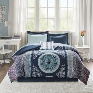 Intelligent Design Eleni Navy Reversible 9-piece Bed in a Bag Set (4 options available)