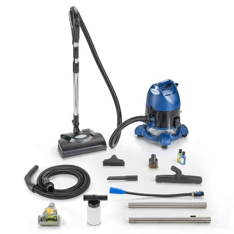 2019 Ocean Blue Water Filtration Bagless Canister Vacuum Cleaner with Pet Tool & Attachments