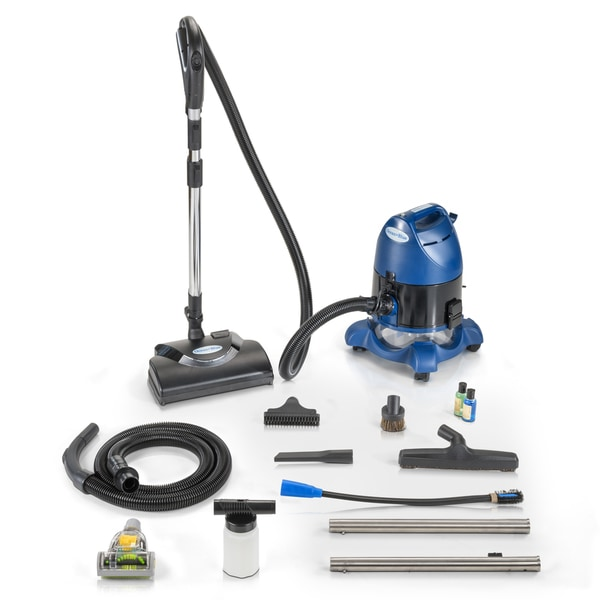 2019 Ocean Blue Water Filtration Bagless Canister Vacuum Cleaner with Pet Tool & Attachments. Opens flyout.