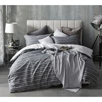 BYB Faded Stripes - Black Duvet Cover