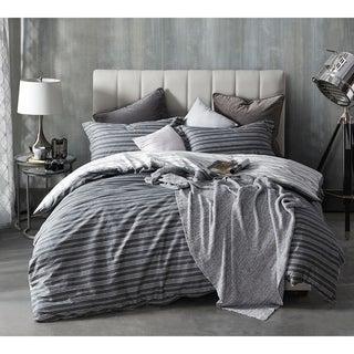 BYB Faded Stripes - Black Duvet Cover