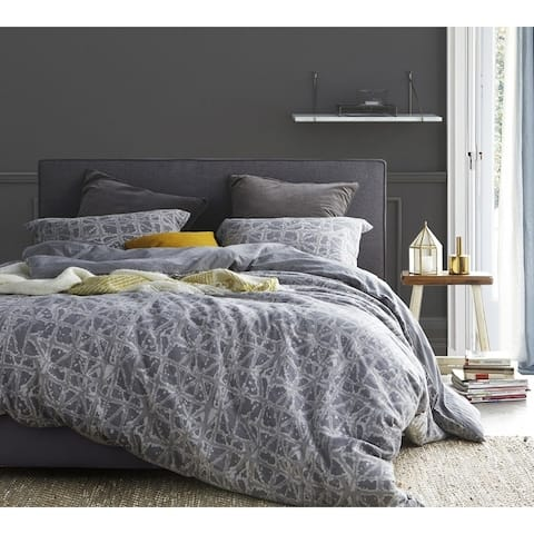 BYB Ice-Crystal Gray Duvet Cover