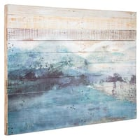 American Art Decor Ocean Wave Reclaimed Wood Farmhouse Wall Art