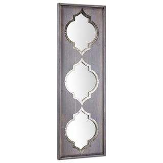 American Art Decor American Art Décor Whitewashed Rustic Wood Wall Vanity Mirror - A/N