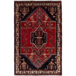 eCarpetGallery Hand-knotted Hamadan Red Wool Rug (4'5 x 7'0)