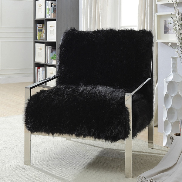 Shop Furniture Of America Delta Contemporary Faux Fur